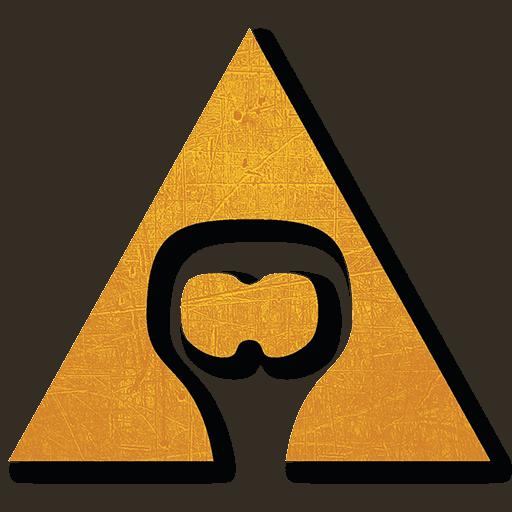 Logo spoločnosti AVAJAK s.r.o. v tvare trojuholníka s otvárakom na fľaše